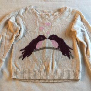 Love-birds Fuzzy Sweater
